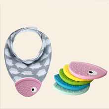 Baby Teether Bib Creative Fish Mouth Teether Baby Triangle B