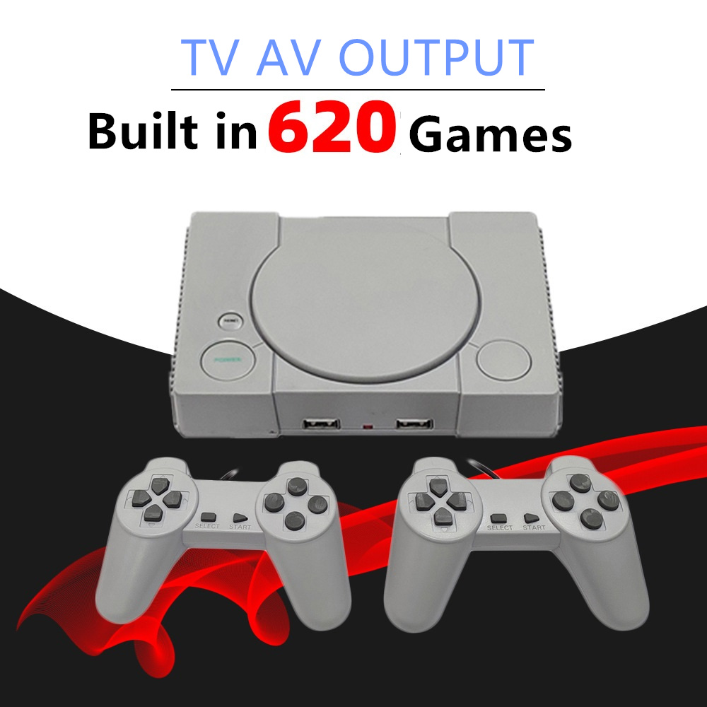 8Bit Mini Family TV Output Retro Handheld Game Consoles Video Game Console PS1 Built in 620 Classic FC Games Dual Player Gamepad
