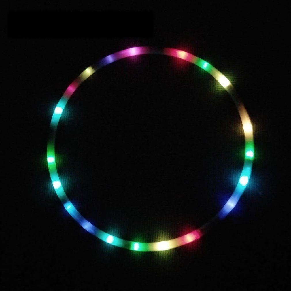 LED Colorful Fitness Circle Performing Arts Abdominal Fat Loss Light Fitness Crossfit Foldable Sport Hoop Gym Fitness Equipments