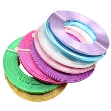 5meter/piece 3mmX1mm (3mm width 1mm thickness) Flat aluminum wire Aluminum crafts For DIY Necklace Bracelets Jewelry Making 5.0