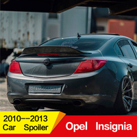 Use For opel insignia spoiler 2010 11 12 13year Buick Regal glossy Carbon Fiber/FRP Rear wing R style sport Accessories