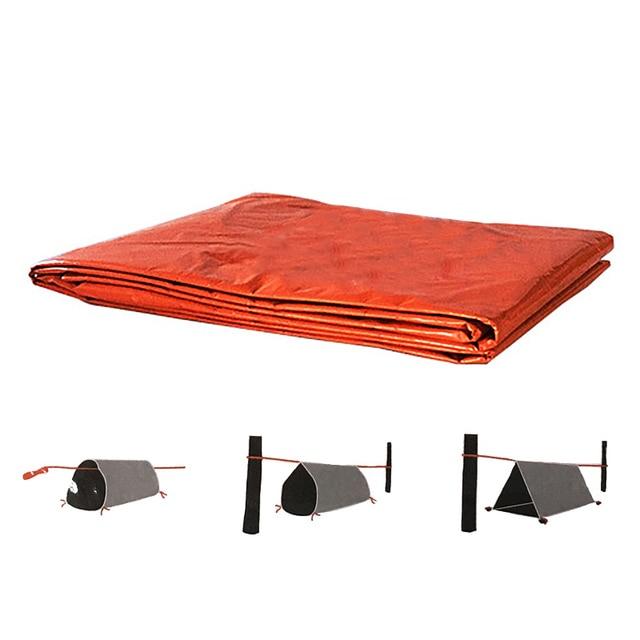 2Person Emergency Shelter Waterproof Thermal Blanket Rescue Survival Kit SOS Sleeping Bag Survival Tube Emergency Tent w Whistle 5