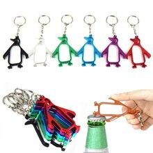 Многофункциональные брелоки открывалка для бутылок Креативный дизайн мультфильм ящерица Пингвин формы открывалка для пивных колпачков кольцо для ключей из алюминиевого сплава