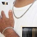 Vnox 18-70 см ожерелье с цепочкой 3-11 мм мужское классическое панк ожерелье из нержавеющей стали