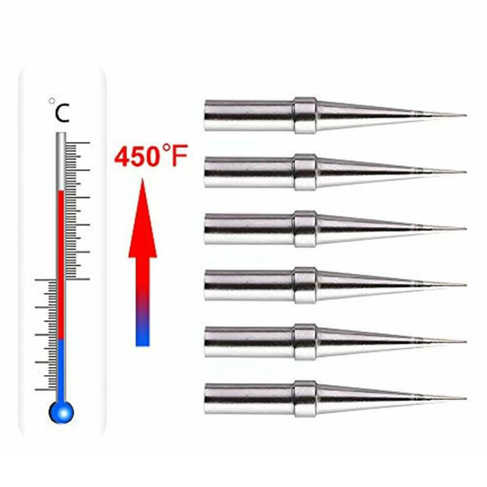 0.8mm <font><b>Soldering</b></font> <font><b>Iron</b></font> Tips Conical Supplies For <font><b>Weller</b></font> WES51/50 WESD51 WE1010NA image