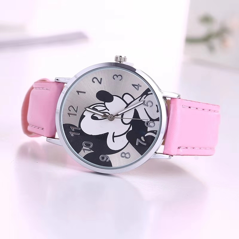 Hot Sales Lovely Mickay Mouses Children's Watches Girls Boys Fashion Crystal Dress Children Quartz Wristwatches Kids Watch Clock