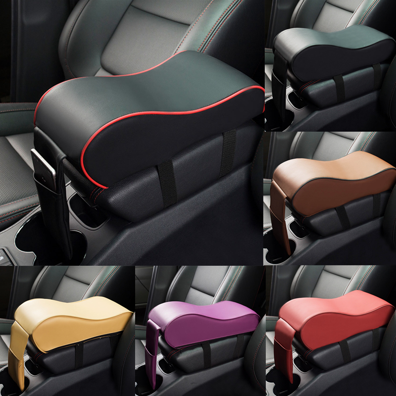 Universal Leather Car Armrest Pad Auto Armrests Car Center Console Arm Rest Seat Box Pad Vehicle Protective Car Styling-in Armrests from Automobiles & Motorcycles