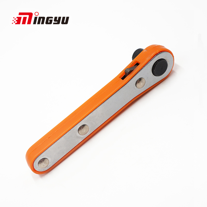 1pc Mini Portable Screwdriver Ratchet Handle Adjustable 1/4 Inch Hex Drive Bits And Socket Handle For Household Tool