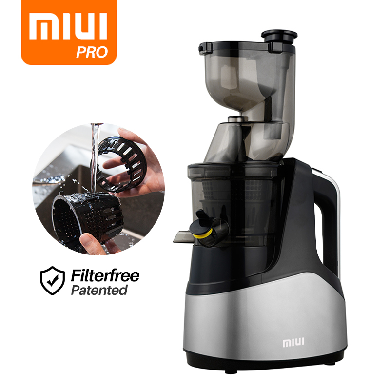 Imprensa fria juicer lento masticate 7 nível extrator fácil limpo filterfree innovat motor silencioso grande diâmetro miui 2019 novo pro