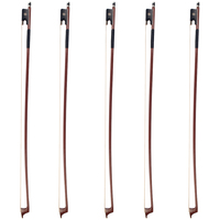 Pack/5pcs Brazilwood 3/4 Size Cello Bows Brown Perfect Balance for Cellist Students
