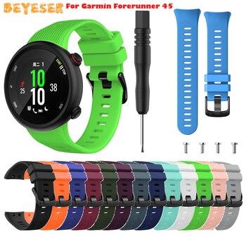 Silicone Watchband Strap For Garmin Forerunner 45 Bracelet for Garmin Forerunner 45S Watch Strap Replacement Watch Band fitting 20mm silicone watch band strap for garmin forerunner 645
