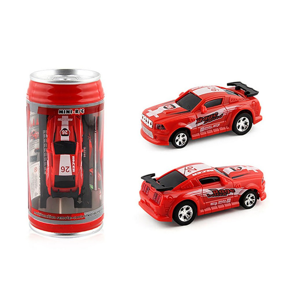 2019 Hot 4 Colors 20Km/h Coke Can Mini RC Car Radio Remote Control Micro Racing Car 4 Frequencies Toy For Kids Gifts RC Models