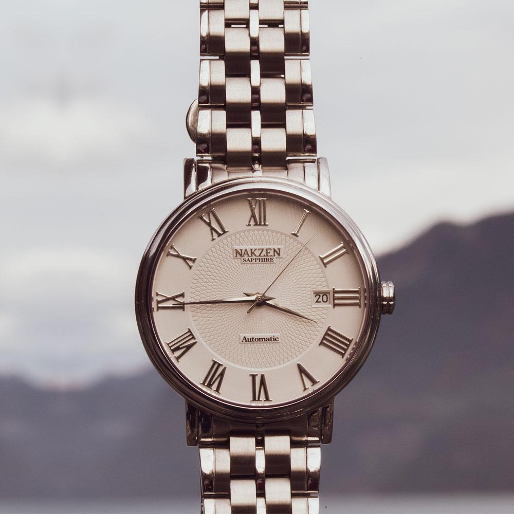 NAKZEN мужские классические автоматические механические часы брендовые роскошные мужские наручные часы из нержавеющей стали часы мужские ча... - 2