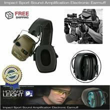 Esportes ao ar livre anti-ruído impacto som amplificação tiro eletrônico earmuff caça tático fone de ouvido de proteção auditiva
