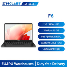 Teclast F6 Laptop 13.3 Inch FHD IPS 1920x1080 Intel Apollo Lake Windows 10 Notebook 8GB LPDDR4 128GB SSD Dual Wi-Fi