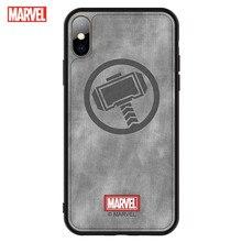 מארוול עבור iPhone X/XS טלפון מקרה עם מלא אורך בד כיסוי שמתנגד נופל