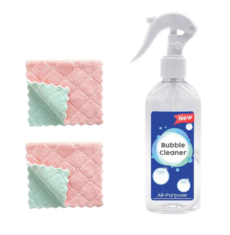 Кухонный пузыристый очиститель toliet очиститель пор многоцелевой губка Универсальный пузыристый очиститель с 2 шт полотенце для очистки TDH