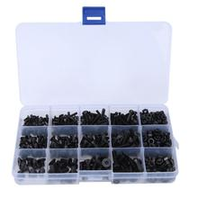 460Pcs/set Hex Socket Screw Self Tapping Screw Black Flat  Carbon Steel Hex Nut Kit Accessories цена