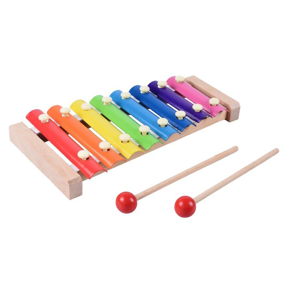 1 pcs Hand Hitting Wood Xylophone Chic Smart Cute Educational Toy For Children Christmas Gift image