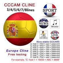 Europa ccam 5/6/7/8 linhas satélite DVB-S2 para gtmedia v8 nova v7s v9 freesat oscam servidor teste 48h