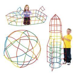 500 шт 4D соломенные строительные блоки DIY Пластиковые сборные блоки игрушка соломинка вставленная Строительная игрушка красочный развивающ...