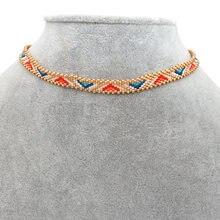 Go2boho biżuteria Boho naszyjnik dla kobiet moda Handmade Collier Femme japoński Miyuki koralik biżuteria 2020 Choker naszyjniki