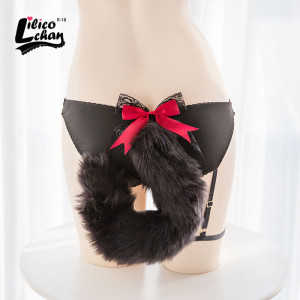 Image 2 - Cute Flexible Fox Tail Sexy Cotton Panies Erotic Toys Chastity Cute Open Crotch Underwear Sexy Toys for Women Adult Toy Sex Shop