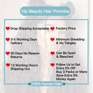 Image 5 - VIP Beauty перуанские волнистые 100% натуральные кудрявые пучки волос 10 28 дюймов натуральный цвет 1B remy волосы для наращивания Бесплатная доставка