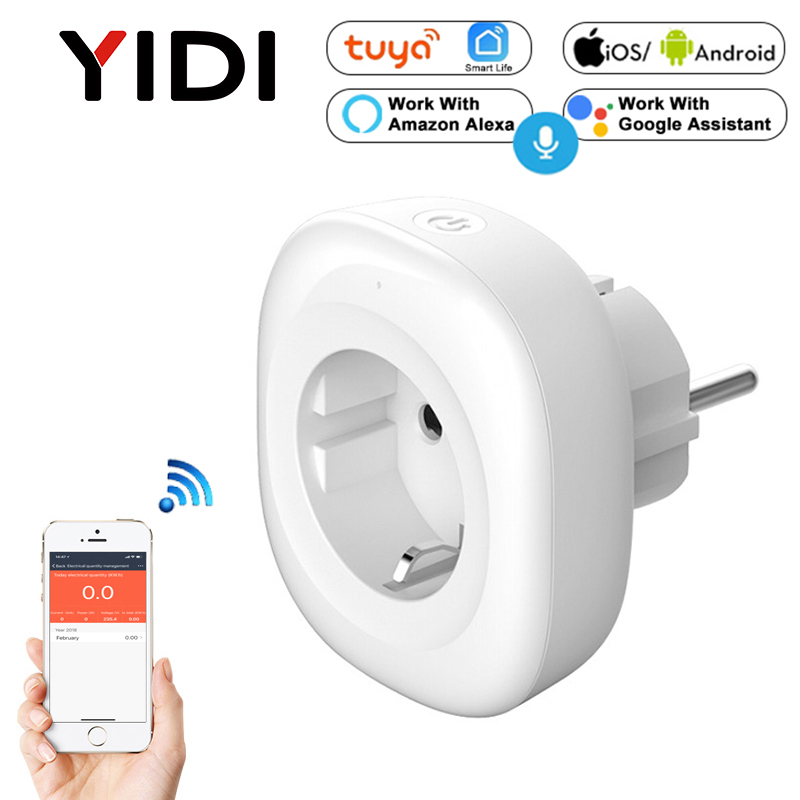 <font><b>EU</b></font> Wifi Smart <font><b>Socket</b></font> with USB Wall Plug Electrical Outlets Gsm Power <font><b>Socket</b></font> with Timer Energy Monitor Mobile Control Smart Home image