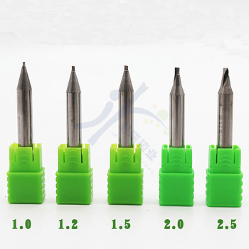 цена на Raise Carbide Single Blade End Mills Milling Cutter For All Key Machine Drill Bit 0.9 1.0 1.2 1.5 2.0 2.5mm Locksmith Tools
