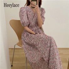 Alien Kitty Elegant Femme Florals Office Lady Beach Chic Long Dresses 2021 Summer Vintage Party Dress New Gentle Retro Vestidos