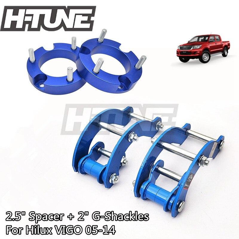 H-TUNE 4x4 Accesorios 32mm z przodu Spacer i tylne rozszerzony 2 cal G-kajdany podnieś zestawy 4WD dla Hilux Vigo 05-14