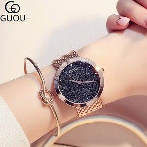 Image 1 - Moda kadın saatler en ünlü marka lüks yıldız gökyüzü Casual bayanlar Quartz saat kadın bilek saatler saat relogio feminino
