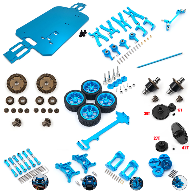 WLtoys A949 A959 A969 A979 A959-B A969-B A979-B RC Car Spare Parts Car Bottom A949-23/A959-B-27 Upgrade Metal Differential