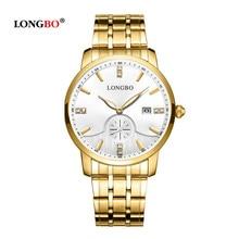 LONGBO Fashion Quartz Watch Women Luxury Brand stainless steel Watch Men's Wristwatch Waterproof For lovers relogio masculino