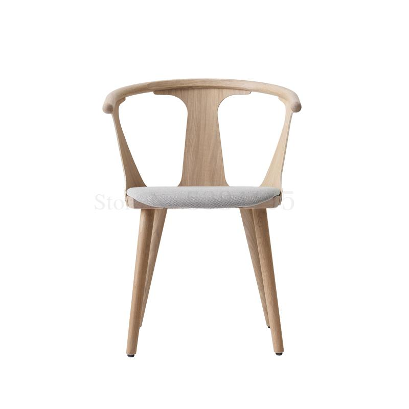 Designer Chair Dining Chair Simple Modern Light Luxury Home Tea Shop Chair Nordic Restaurant Solid Wood Cafe Tables And Chairs Cafe Chairs Aliexpress