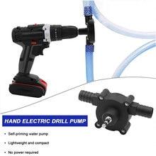 Portable Electric Drill Pump Diesel Oil Fluid Water Pump Mini Hand Self-priming Liquid Transfer Pumps Home Garden Outdoor Tool