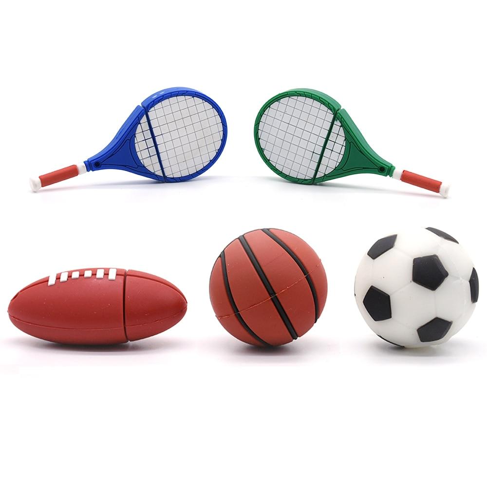 American Football Usb Flash Drive 4GB 8GB 16GB 32GB 64GB 128GB Pendrive 256GB Basketball Memory Stick Tennis Sport Pen Drive