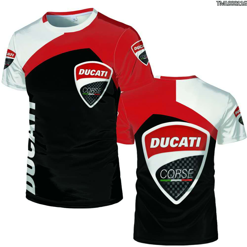 New 3D Digital Printed Ducati Car Logo  T Shirt Oversize 3 D Printed Plus Size