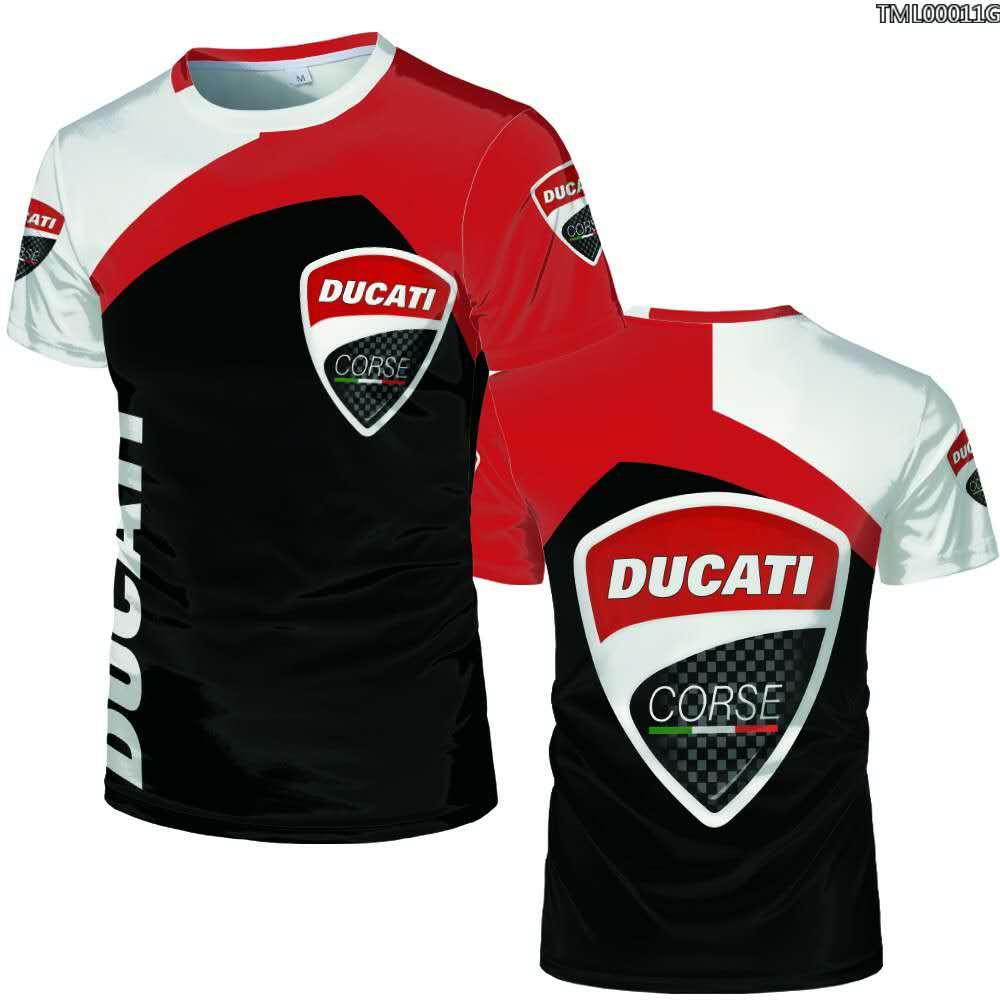 New 3D Digital Printed Ducati Car Logo  T Shirt Oversize 3 D Printed Plus Size