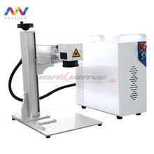Metal and Non-metal Material Laser 20W/30W/50W Portable aluminum plastic mopa Fiber Laser Marking Machine(China)
