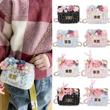 Children's Mini Handbag Cute Flower Crossbody Bags for Kids Small Coin Wallet Baby Girls Pearl Change Purse Gift