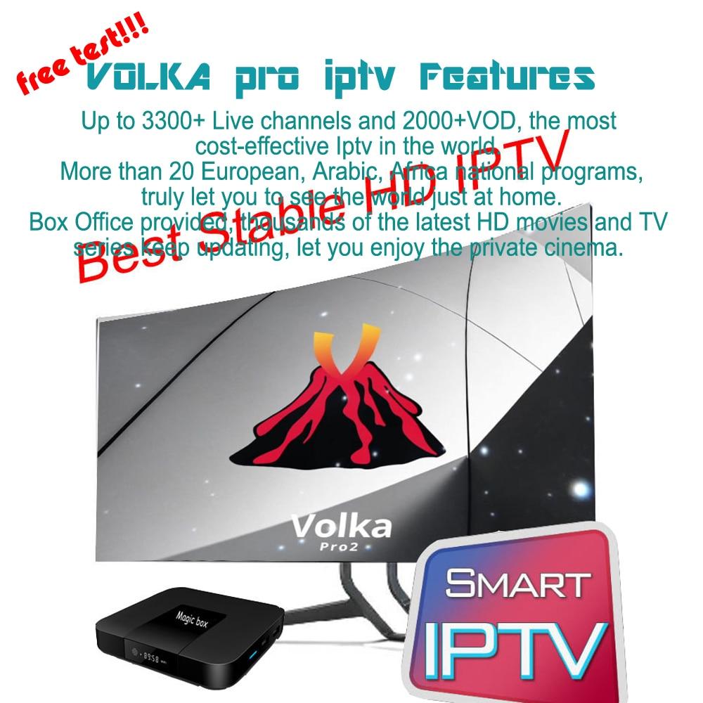 Android tv box VOLKA PRO Iptv подписка французский арабский iptv код ссылка список каналов stalker xtream