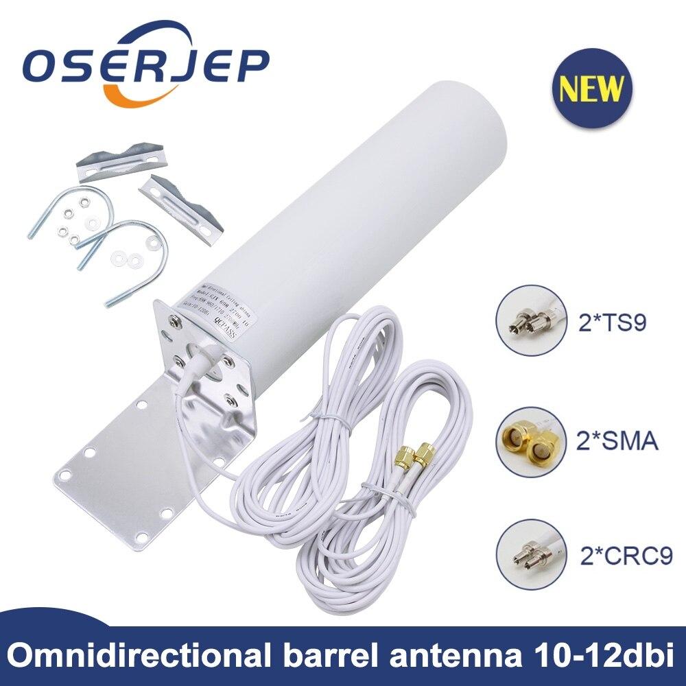 4g lte antena crc9 sma ts9 12dbi omni antena 2.3 ghz exterior ceilling 5m cabo 2.4 ghz para huawei b315 e8372 e3372 zte roteador