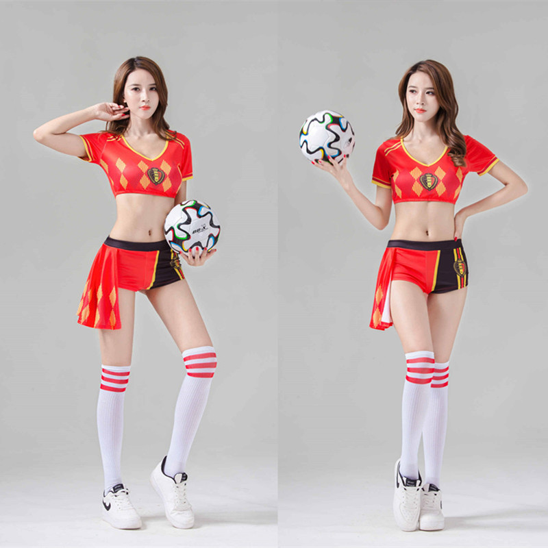 Ready Stock New Sexy Lingerie Sexy Gray Student Uniform Suit Cosplay Cosplay Stage Costume Cheerleader