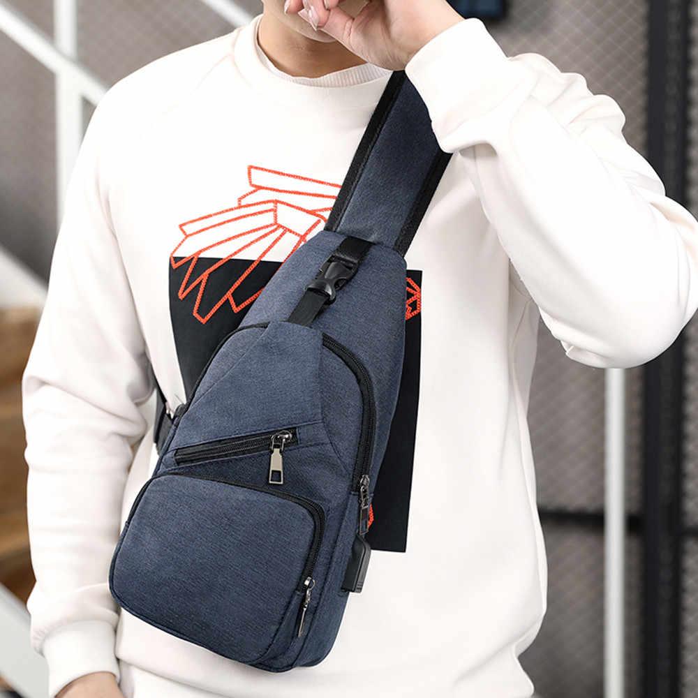 Мужская повседневная функциональная сумка для талии телефон ремень сумка с USB серый черный холст Хип сумка наплечный ремень пакет