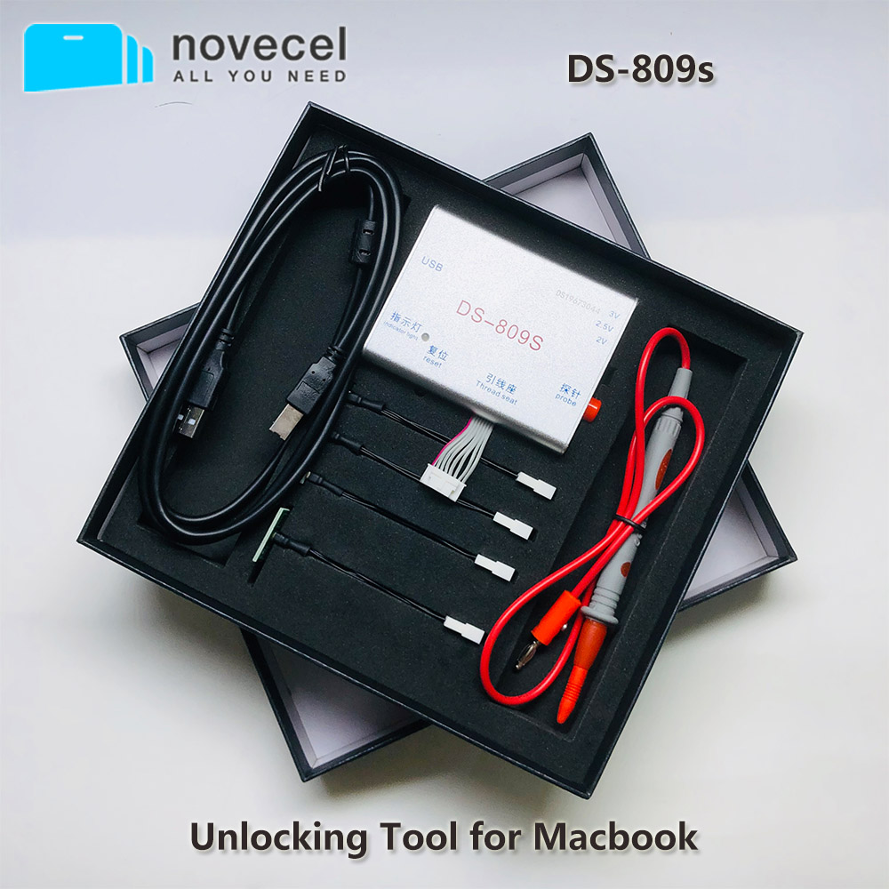 New DS-809s Unlocking Tool For Repair Macbook IMac Air SPI ROM IC Read Write DS809 SN Icloud Unlock Tool Provide Multi Method
