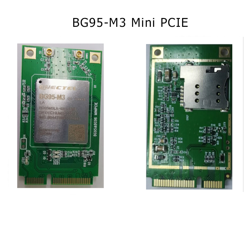 LTE BG95 BG95-M3 Cat M1 Cat NB2 EGPRS GNSS Mini Pcie Module With Sim Card Slot Built-in GPS Supports 2G Low Power EMTC NB BD