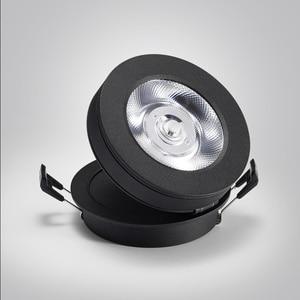 Image 4 - 회전 360 ° 접는 recessed 라운드 cob led downlights 7 w/12 w led 천장 스포트 라이트 배경 그림 램프 실내 lig