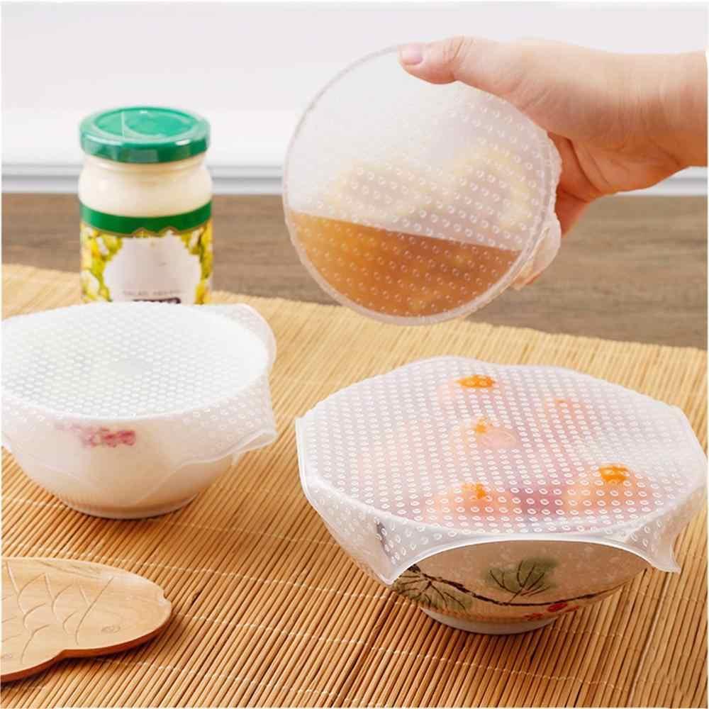 Silicone Seal Mangkuk Makanan Penutup Pengawet Film Transparan Kulkas Film Plastik Food Grade Pemanasan Microwave Cover